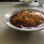 栄華の天津飯! かかっているタレが濃厚でおいしい!